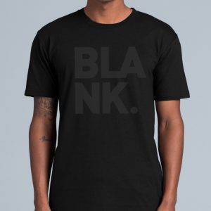 Blank Logo Tee – Black on Black