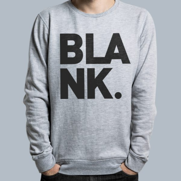 Blank Logo Crew – Black on Grey