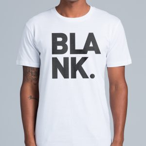 Blank Logo Tee – Black on White